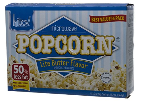 Kitov Microwave Popcorn Lite Butter Flavor No Cholesterol 19.2 Oz. Pk Of 6. (Light Butter Flavor)