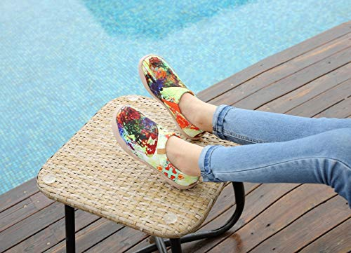 UIN Women's Butterfly Painted Canvas Slip-On Shoes Fashion Ladies Travel Shoes by UIN (Image #5)