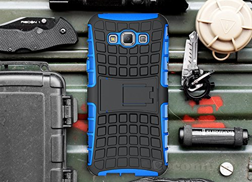 Slim Rugged Shockproof Case for Samsung Galaxy E5 (Blue) - 2