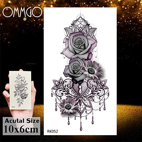 Yyoutop Triángulo geométrico e Tatuajes para Mujeres Tatuaje Falso ...