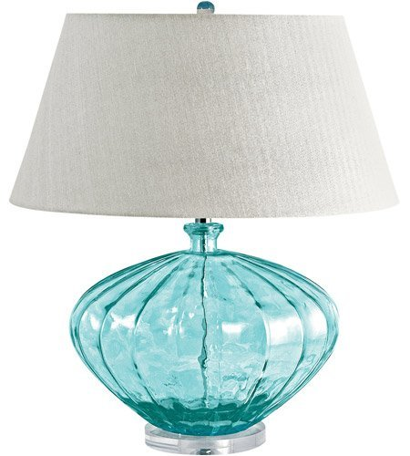 Table Lamps 1 Light With Blue Finish Recycled Glass Acrylic Material E26 Bulb Type 25 inch 100 Watts