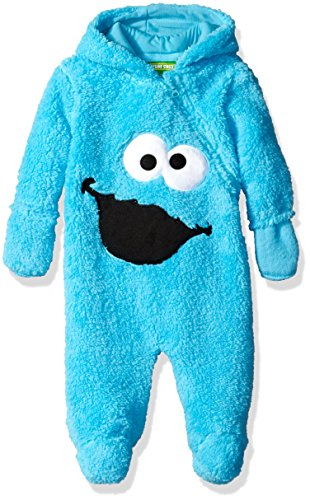 [Sesame Street Baby Boys' Cookie Monster Sherpa Pram,Blue,3/6 MONTHS] (Sesame Street Costumes For Babies)