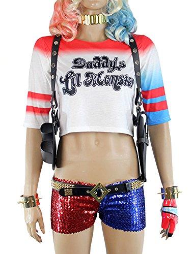 Harley Quinn Harness : Harley quinn shoulder gun holster costume accessories