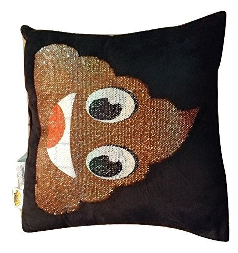 Emoji Throw Pillow Swipe Up Colorful Poo Swipe Down Brown Poop