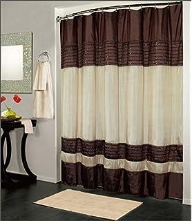Amazon Com Lush Decor Terra Shower Curtain By Inch Brown