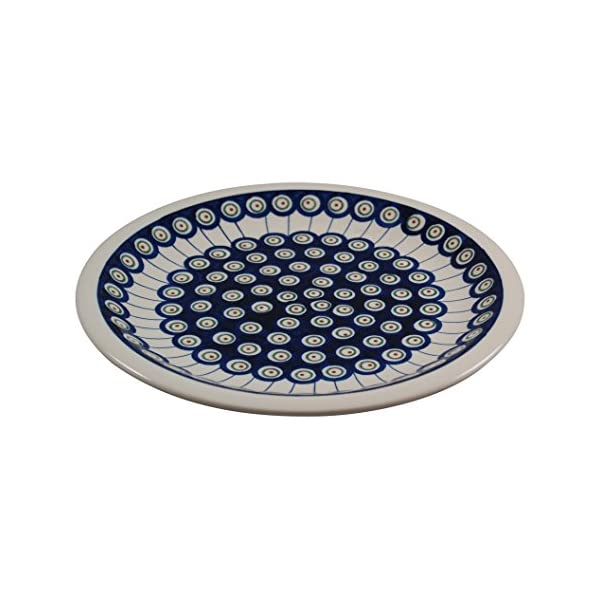 Polish Pottery Boleslawiec Plate, Dinner Plate, 27.2cm in LINE pattern