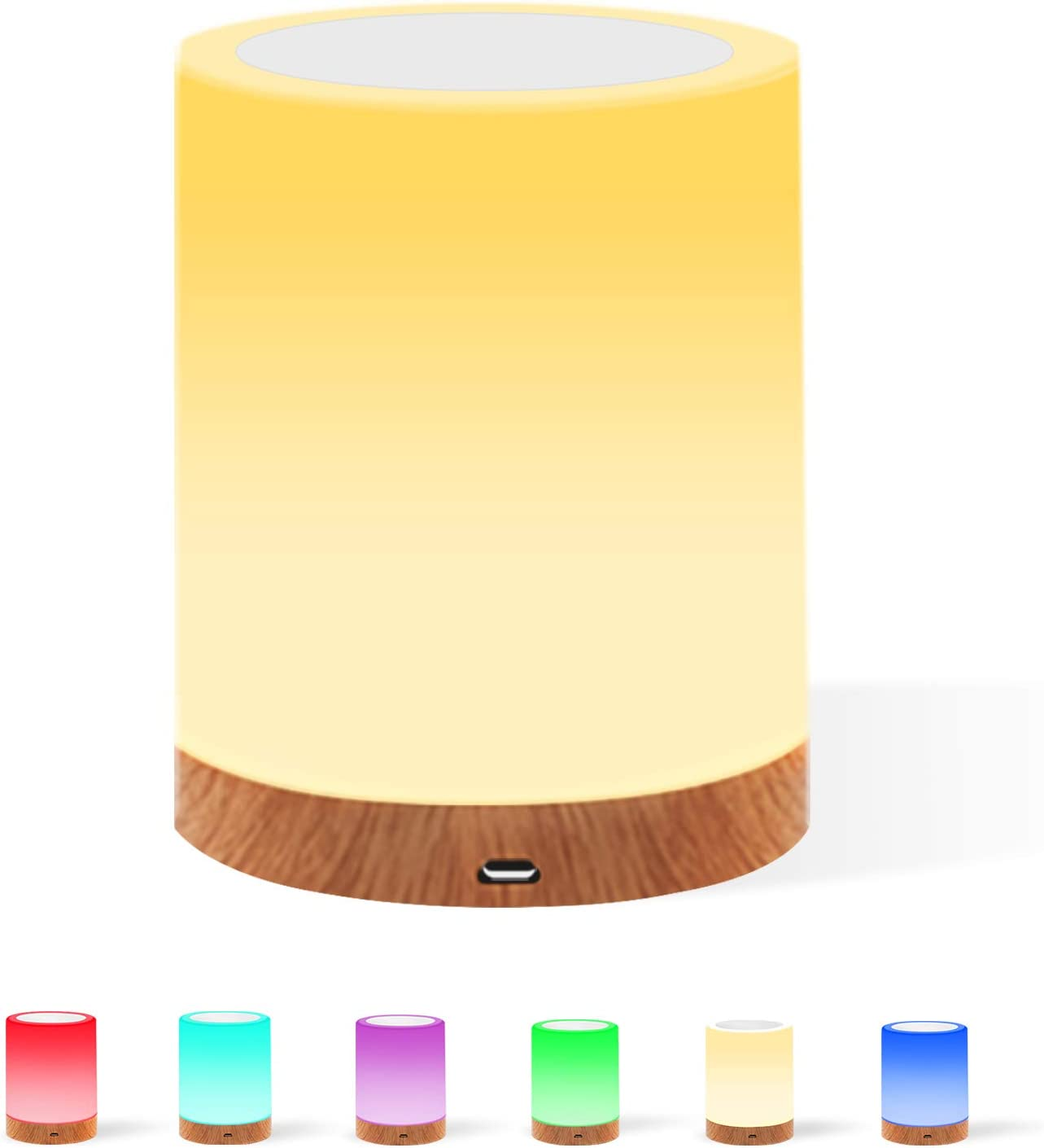 USB Powered Always On//60 Minute Time-Out Feature Lights By Night Color-Changing Table Top Lamp Nightlight Flowers and Butterflies Pink Acrylic Base Colorful 9 Multi-Colored 3D Options 32917
