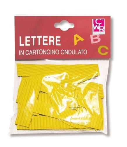 CWR–Lettres en Carton, Multicolore, 007063.108 C.W.R. S.R.L.