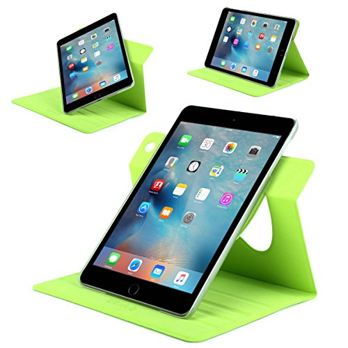 ULAK Ultra Slim 360 Rotating Smart Sleep / Wake Stand Case for Apple iPad Mini 1 / 2 / 3 - Green Photo #4