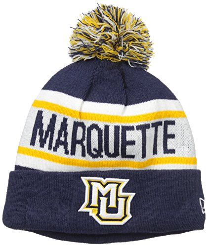 NCAA Marquette Golden Eagles Adult Biggest Fan Redux Knit Hat, One Size, Navy