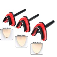 """OWDEN Professional 3 Pieces Leather Belt end Cutter Punch Set,""""V"""" Type Shaped,Leather Strap Punch Tool Set,3 Sizes Leather Tool. black AL0024"""