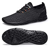 Alibress Unisex Water Shoes-Black Quick Dry Sports Aqua Shoes Lightweight for Swimming Yoga