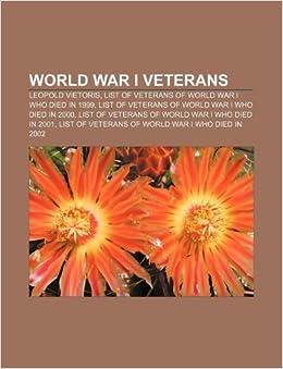 World War I veterans: Leopold Vietoris, List of veterans of ...