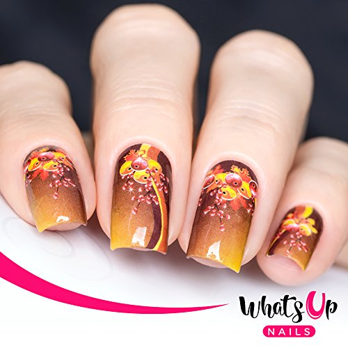 (Whats Up Nails – P031 Holly Frenzy Water Decals Sliders for Nail Art)