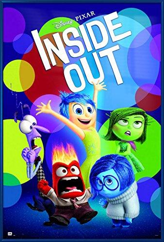 Inside Out - Framed Disney / Pixar Movie Poster / Print (Regular Style) (Size: 24