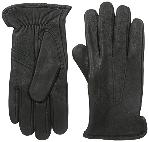 Hestra Mens Leather Gloves: Andrew Deerskin Business Gloves, Black, 9