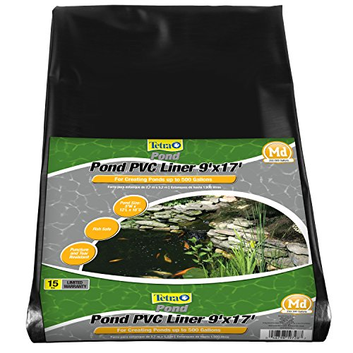 TetraPond Pond PVC Liner, For Ponds Up to 500 Gallons, 9' x 17' ()
