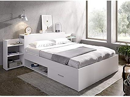 HABITMOBEL Pack Dormitorio; Cama con cajones y Huecos con ...