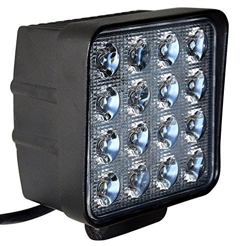 2X 48W Quadrat LED Offroad Flutlicht 12V 24V R/ückfahrscheinwerfer,Scheinwerfer Arbeitslicht SUV,UTV,ATV Arbeitsscheinwerfer Zusatzscheinwerfer Offroad Scheinwerfer