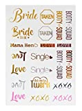 Bachelorette Party Tattoos - Bachelorette Party Favors, Decorations & Supplies by Sterling James Co. - Girls Night Out Temporary Flash Tattoos
