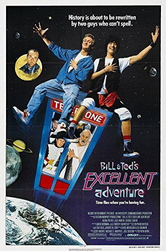 Da Bang Bill & Ted's Excellent Adventure (1989) Movie Poster Cult Classic 20x13INCH ()