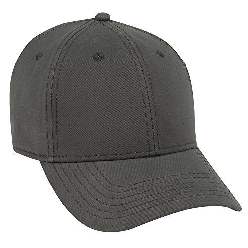 OTTO Ultra Fine Brushed Cotton Twill 6 Panel Low Profile Baseball Cap - Char. Gray -