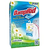 DampRid FG83K Hanging Moisture Absorber Fresh Scent (3 Boxes of 3 bags, Total of 9 Bags)