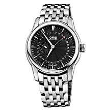 Oris Artelier Pointer Date Automatic Stainless Steel Mens Watch Black Dial 744-7665-4054-MB