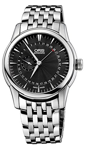 Oris-Artelier-Pointer-Date-Automatic-Stainless-Steel-Mens-Watch-Black-Dial-744-7665-4054-MB
