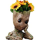 B-BEST Guardians of The Galaxy Groot Pen Pot Tree Man Pens Holder or Flower Pot with Drainage Hole Perfect for a Tiny Succulents Plants and Best Halloween Gift Idea 6""