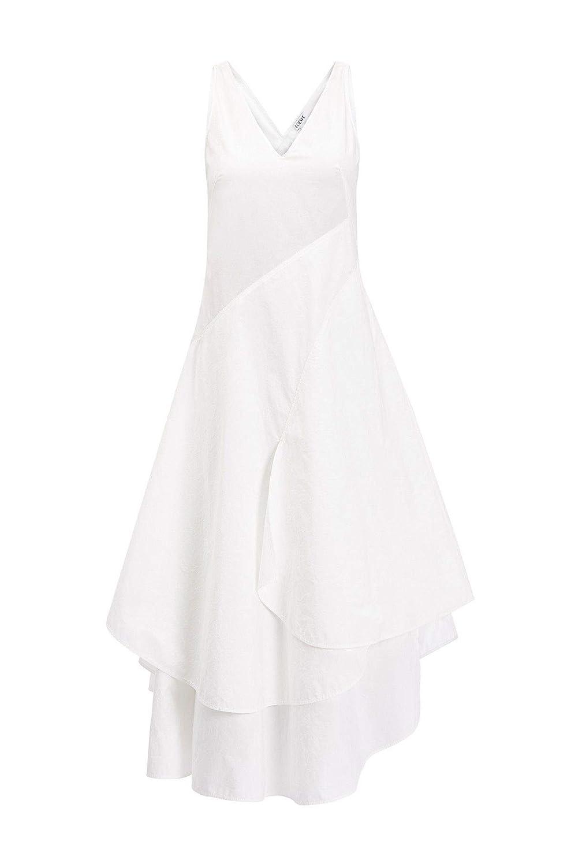 Loewe Women's D2196740FA2100 White Cotton Dress