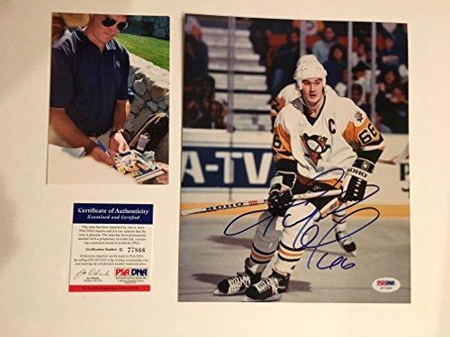 Mario Lemieux Rare! signed autographed Pittsburgh Penguins 8x10 photo PSA/DNA cert PROOF!!