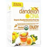 DandelionDNA Roasted Dandelion Root Tea USDA Organic 20 Tea Bags