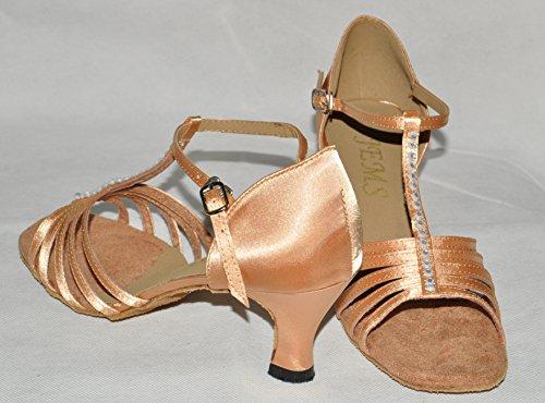 Diana Chair Satin Danse De Bar Taille Chaussures Salon 8 T Beige Diamonte AWP7nHU