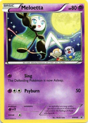 Pokemon - Meloetta (Aria Forme) HP 80 BW69 Promo (Meloetta Card)