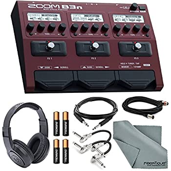 zoom b3n multi effects processor for bassists bundle with xlr trs guitar patch. Black Bedroom Furniture Sets. Home Design Ideas