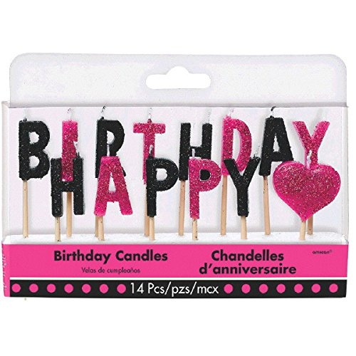 Amscan 170306 Colorful Fabulous Happy Birthday Pick Candles, 3