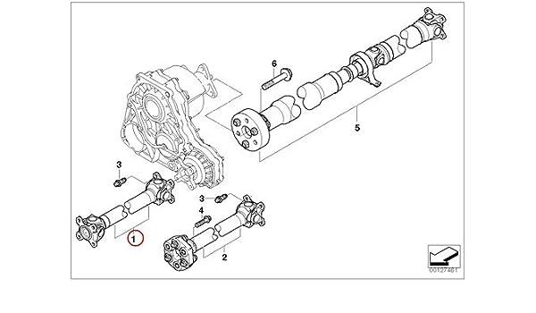 Amazon com: BMW Genuine Driveshaft Drive Shaft Front E46