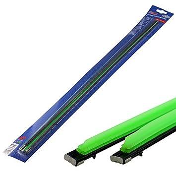 Silicona para limpiaparabrisas, 60 cm verde 2 unidades): Amazon.es: Coche y moto