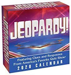 Like the award-winning show on which it's based, the JEOPARDY! 2020 Day-to-Day Calendar will entertain and challenge any trivia fan.Following the familiar answer-and-question format that has made JEOPARDY! America's Favorite Quiz Show, the ca...