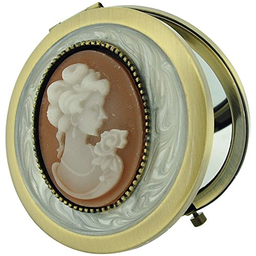 (Danielle Cameo Compact Velvet Pouch & Mirror Gift Boxed)