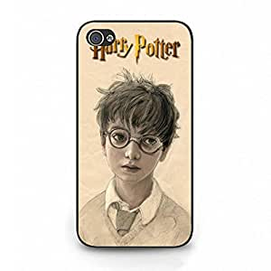 Customized Harry Potter Phone Case Cover For Iphone 4 Black Hard Case W2T12