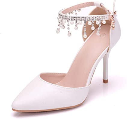 Womens Princess Shoes High Heels Dress Wedding Party Elegant Heeled Pump Sandals Sandals Boots