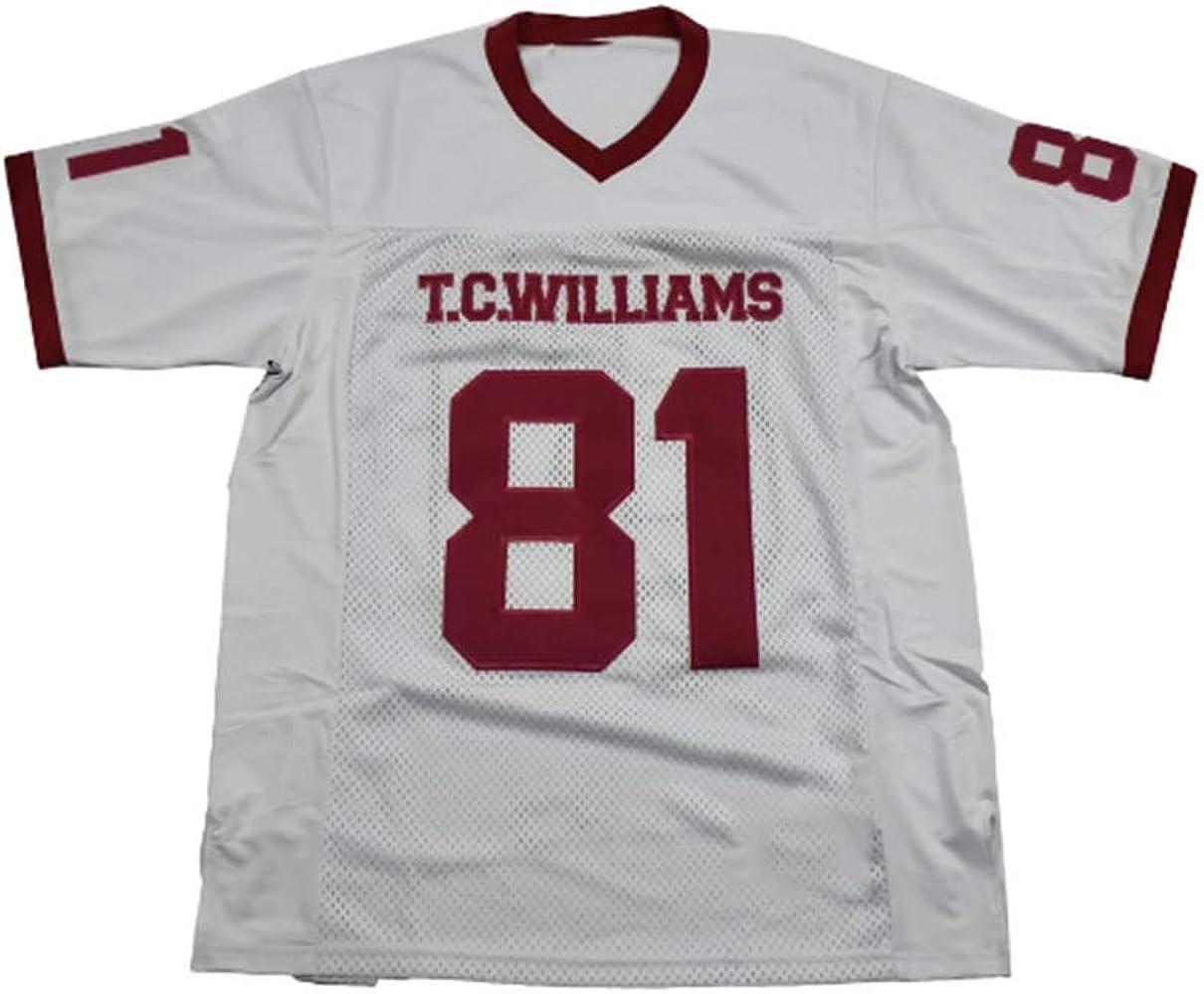 Julius Campbell #81 Custom White Men's Movie Football Jersey