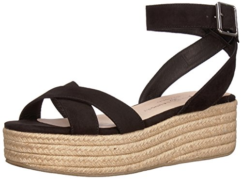 Chinese Laundry Women's Zala Espadrille Wedge Sandal, Black Suede, 10 M US