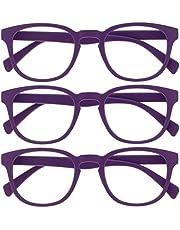 Opulize Pop 3 Stuks Zwart Purper Afstand Bril Kortzichtig Bijziendheid Retro Ronde Mannen Vrouwen MMM2