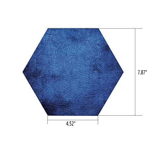 Hexagon Wall Sticker,Mural Decal,Navy Blue Decor,Martian Alien Skin Like Dark Blue Contemporary Interesting Design Art Print,Dark Blue,for Home Decor 4.52x7.87 10 Pcs/Set
