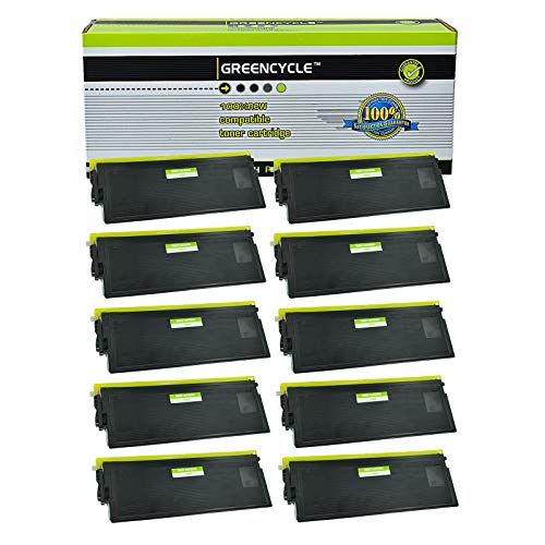 GREENCYCLE High Yield Compatible TN670 TN-670 Toner Cartridge Replacement for Brother HL-6050 HL-6050D HL-6050DN HL-6050DW Laser Printer, Page Yield Up to 7,500 Pages (Black, 10 Pack) (Tn670 Yield High)