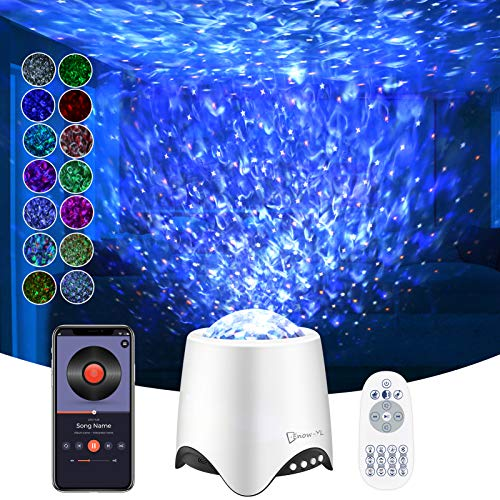 Star Projector, Night Light Projector, Enow Nebula Galaxy Light with Ocean Wave, 16 Music/Sounds, 8 Lighting Modes, Adjustable Brightness/Speed/Color, Voice/Remote Control, Perfect for Festival Decor