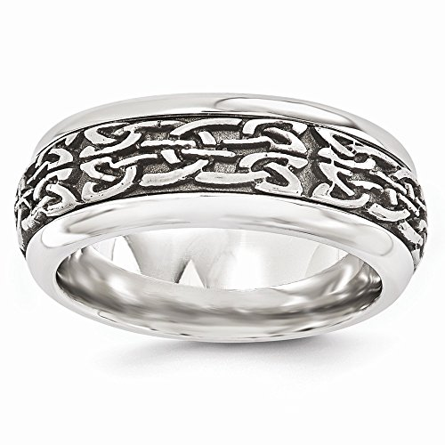 - Bridal Wedding Bands Fancy Bands Edward Mirell Titanium and Stainless Steel Casted 9mm Band Size 12